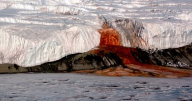 This glacier in Antarctica 'bleeds' red liquid