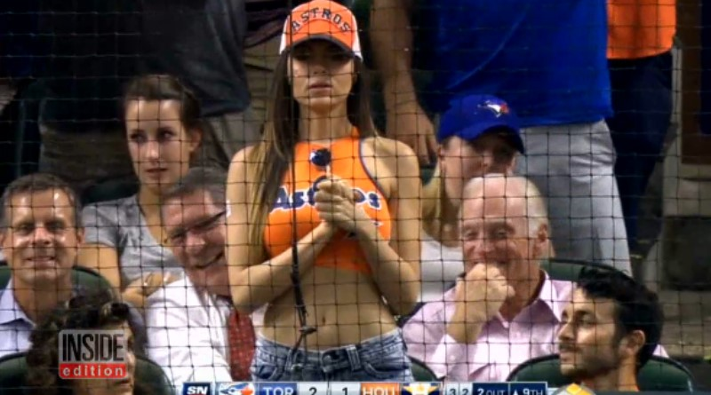 Scantily-Clad Astros Fan Wows the Internet With Striking Homemade Attire