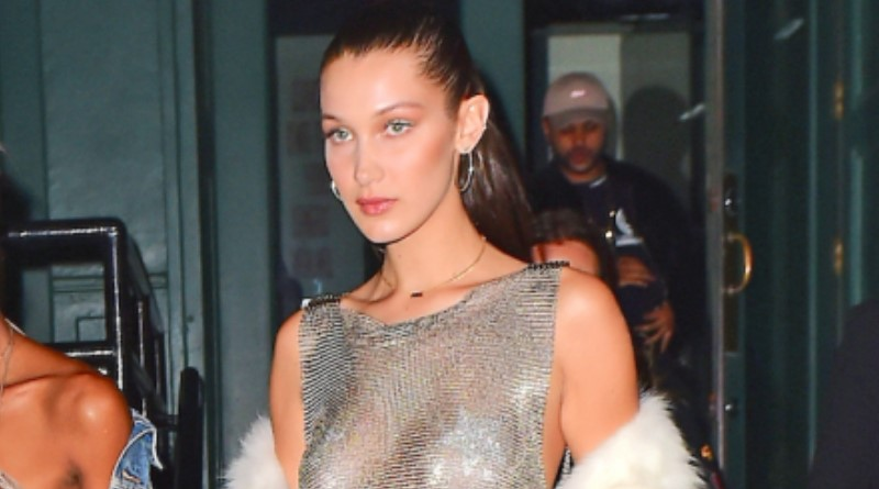 Bella Hadid Celebrates Her 20th Birthday in Pasties and Chainmail