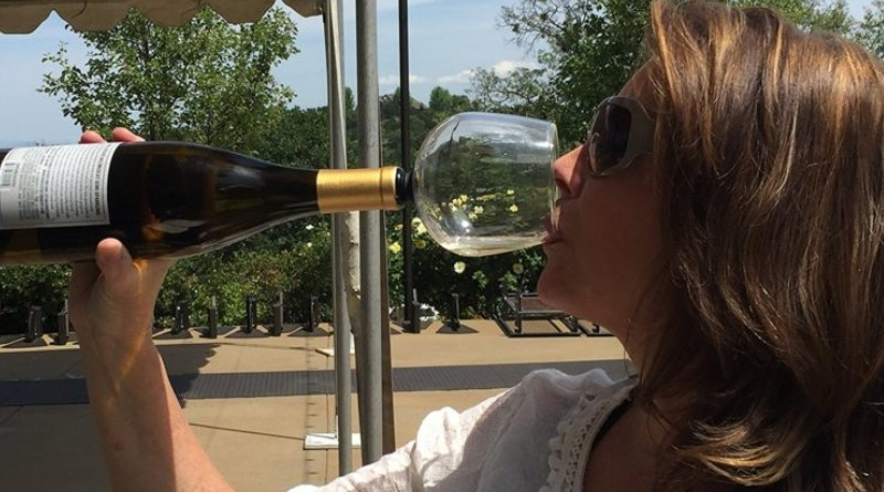This Wacky Gadget Turns Wine Bottles Into Wine Glasses