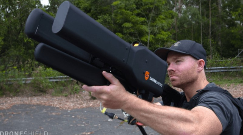 This humongous beast of an anti-drone gun isn't quite as nasty as it looks